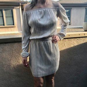 Gorgeous Golden Off Shoulder Cocktail Dress